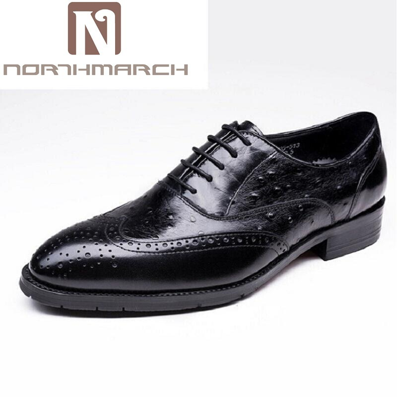 NORTHMARCH New Arrival British Style Round Toe Mens Leather Shoes Fashion Wedding Party Business Brogue Shoes Chaussure Homme new british style real top cow leather boots qshoes mens business dress casual fashion men personalized round toe boot y97 663