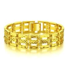 Fashionable women wide bracelet, 15mm21cm gold plated bracelet lovers, real 24k gold plated bracelet will not change multilayered gold plated textured rhinestone strand bracelet