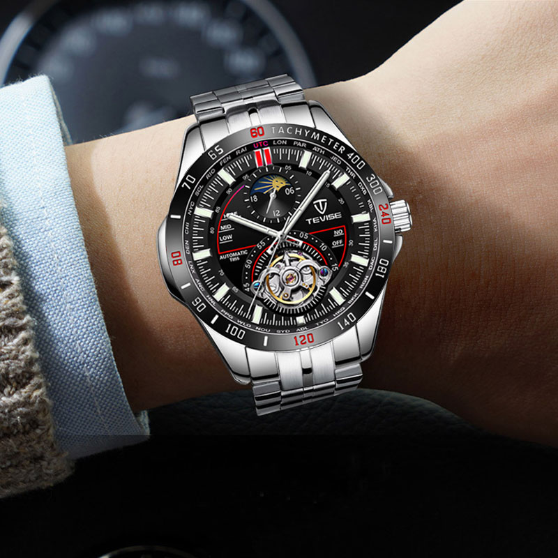 TEVISE 2019 Mechanical Watches Fashion Luxury Men 39 s Automatic Watch Clock Male Business Waterproof relogio Wristwatch in Mechanical Watches from Watches
