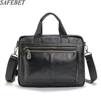 2017 Genuine Leather Men Brand High Quality Men S Business Handbags Two Color Real Leather Soft