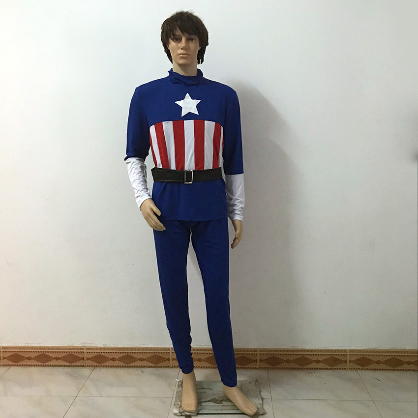 Superheros Steven Rogers Captain America  Uniforms Christmas Party Halloween Uniform Outfit Cosplay Costume Customize Any Size