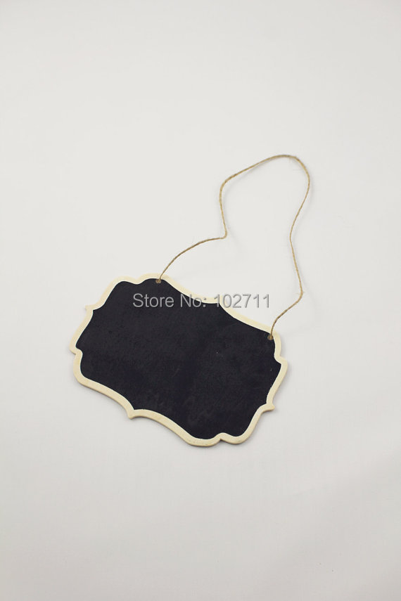 SALE - 250 Big Chalkboard Hanging Tag - Chair signage - Wedding sign - Table Number - Chalkboard and twine -Name Tag