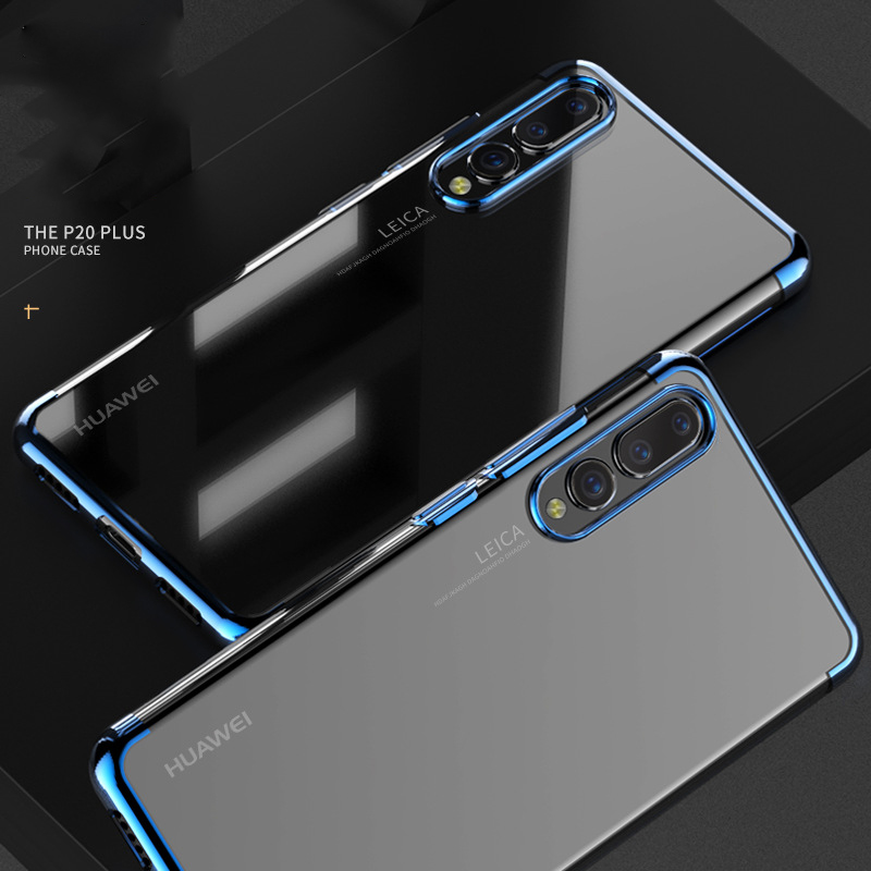 Leanonus Plating TPU Case for Huawei P20 Pro P20 Lite Luxury Soft Silicone Back Cover for Huawei P20Lite P20Pro P20 Slim Case iPhone XS