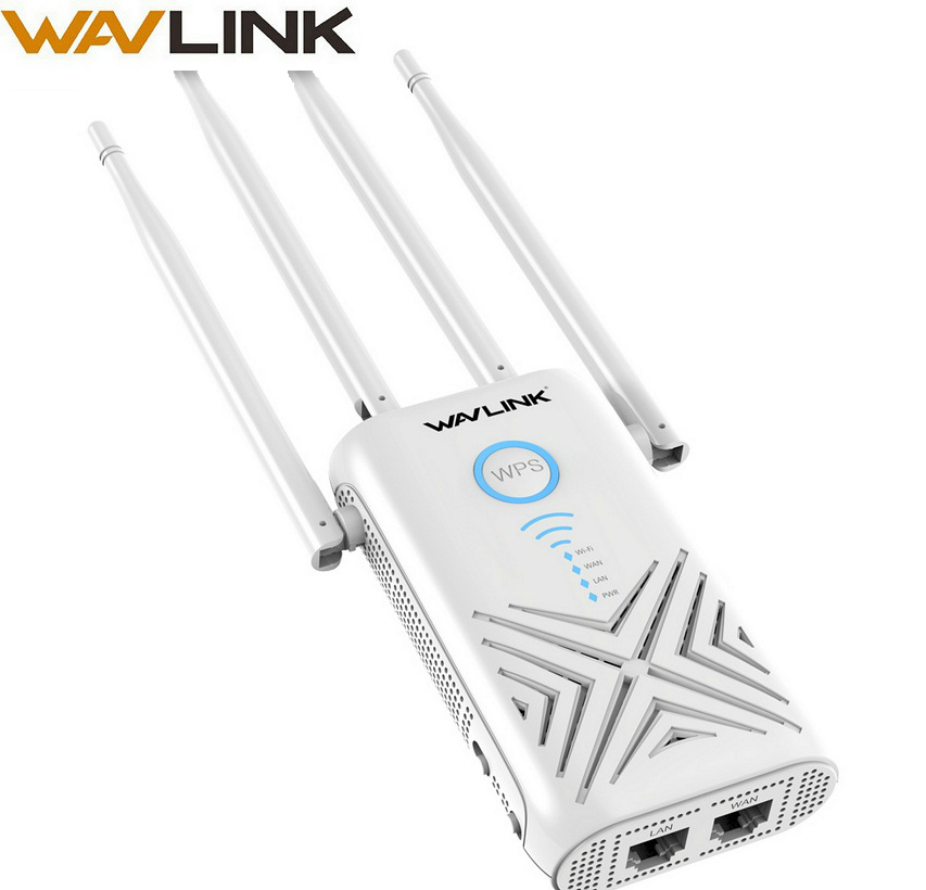Wavlink 1200 Mbps wifi Extender ripetitore/Amplificatore/Router/Access Point Wireless Gigabit Dual Band 2.4G/5G Antenne Esterne 5dBi