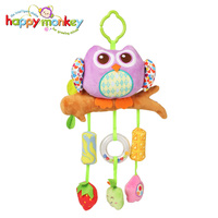 Happy Monkey Wind Chime Take Along Animal Styles Infant Baby Crib Stroller Soft Bed hanging Bell Rattle Toys for Children Gift