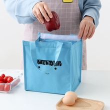 Kids Lunch Bags for Kid Thermal Insulated Lunch Bag Pink Blue Bento Pouches Heated Thermo School Food Storage Bags Lunch Contain simple stripes insulated lunch bag for women packaged food thermal bags thermo pouch isothermal bag kids lunch bag refrigerator