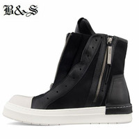 Designer Brand New High Top Handmade flat sneak dual zipper personalized street Boots super cool customized men Boots