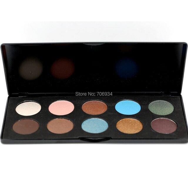 Mate y Shimmer Eyeshadow Palette 1 unids/lote Pro 10 colores de Sombra de Ojos sombra de Ojos Maquillaje conjunto E103