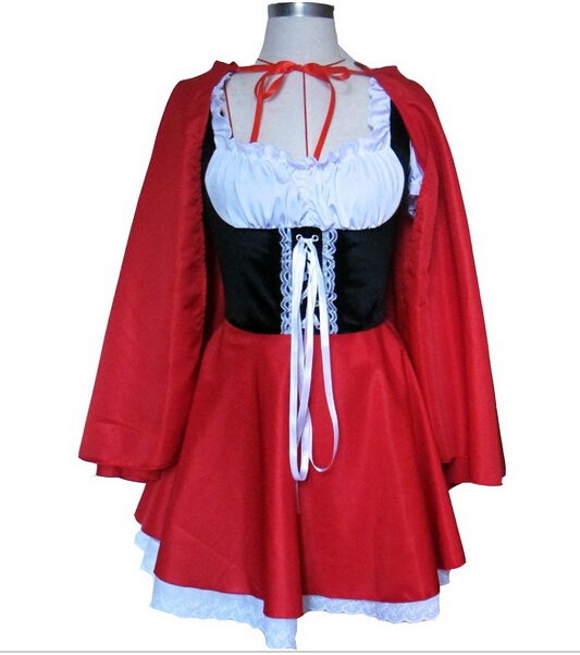 Sexy Cosplay Little Red Riding Hood Fantasy Game