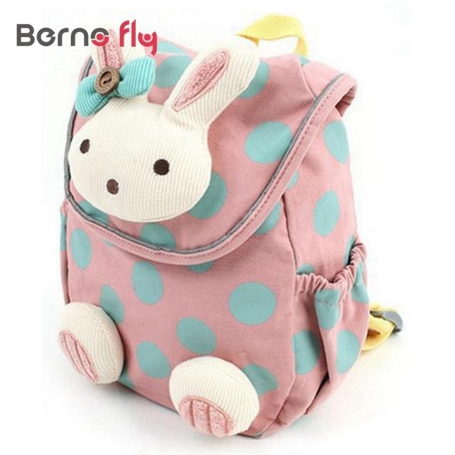 2017 projeto Animal Bonito crianças meninos meninas 3D coelho bonito saco anti-perdido mochila crianças do jardim de infância do bebê saco de escola dos desenhos animados