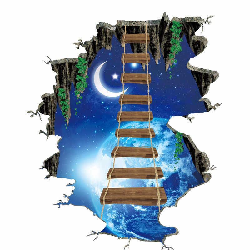 3D Водонепроницаемая Наклейка на стену s Moon Sky Съемная Наклейка на стену для дома и спальни романтическое украшение для детской спальни #40