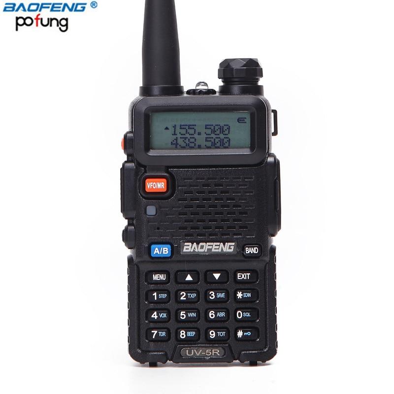 BAOFENG UV-5R 5 w 10 km Talkie Walkie Dual Band Radio 136-174 mhz et 400-520 mhz de poche Deux Voies CB Radio UV5R (Noir/Camouflage)