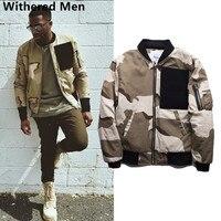 Withered 2017 Bomber Jacket Men European And American Style Vintage CamouflageThe Pilot Baseball Uniform Jacket Men