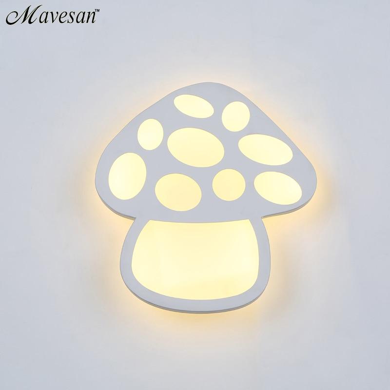 ФОТО Modern Mushroom shape LED Wall Lamps For Bathroom Bedroom 13W Wall Sconce arylic boby Indoor Lighting