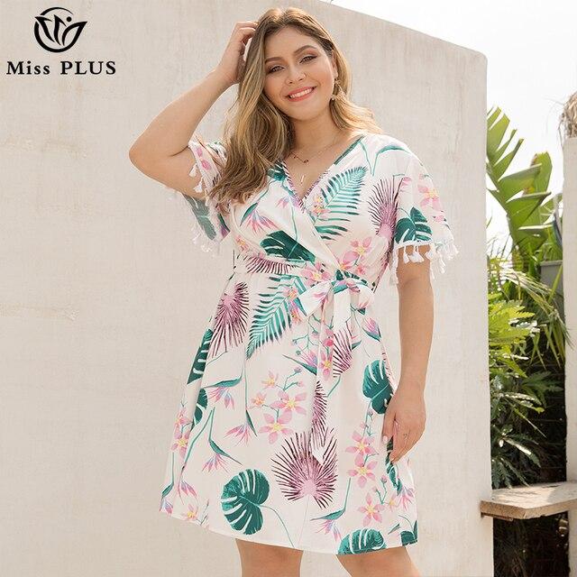d57afe4113571 Düşük maliyetli Kadın elbise artı boyutu 2019 yaz rahat büyük boy ...