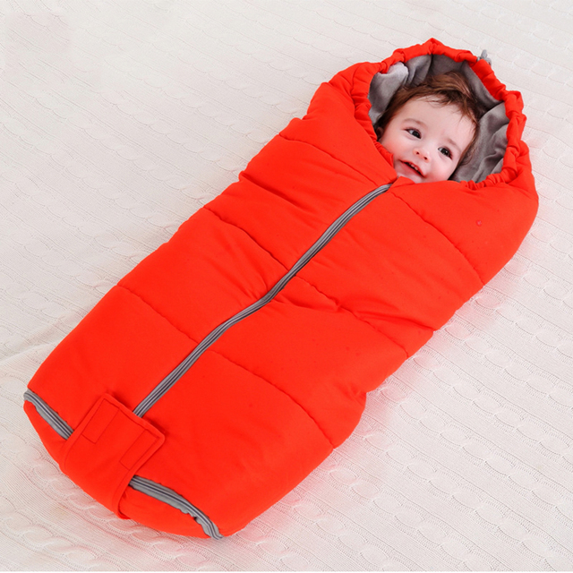 Multi-functional Baby Sleeping Bag Winter Stroller Newborns Infant Thicken Coral Fleece Envelope Warm Sleeping Bags For Children