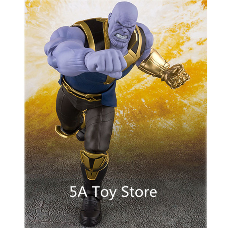 Marvel Avengers Infinity War Thanos PVC Action Figure Collectible Model Toys Brinquedos 16cm