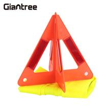 Reflector Plastic Car Hazzard Portable Tripod with Conspicuous Vest Road Safety Stop Sign Car Accessories Orangered
