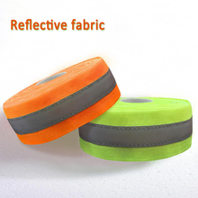 50mm width Fluorescent yellow/Fluorescent Orange Reflective Fabric Sew On safe clothing