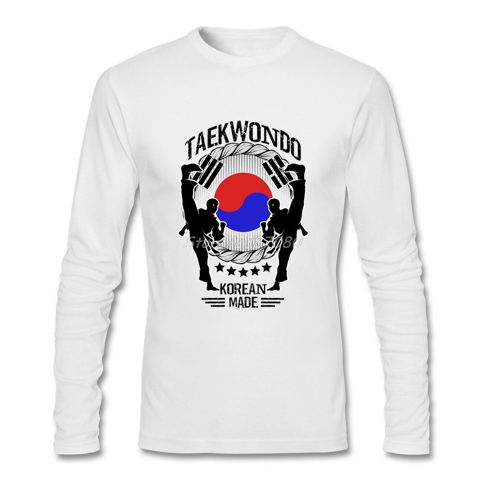 Korean Taekwondo Yin Yang Flag Men T Shirt Swag High Quality Custom