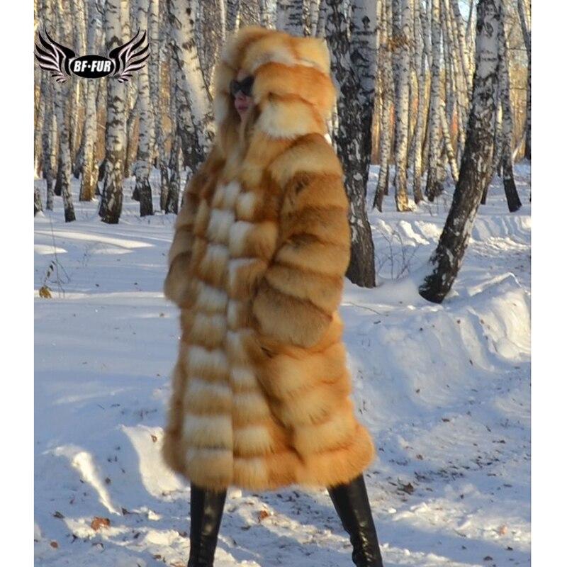 Женская куртка BFFUR, из натурального меха лисы, большого размера