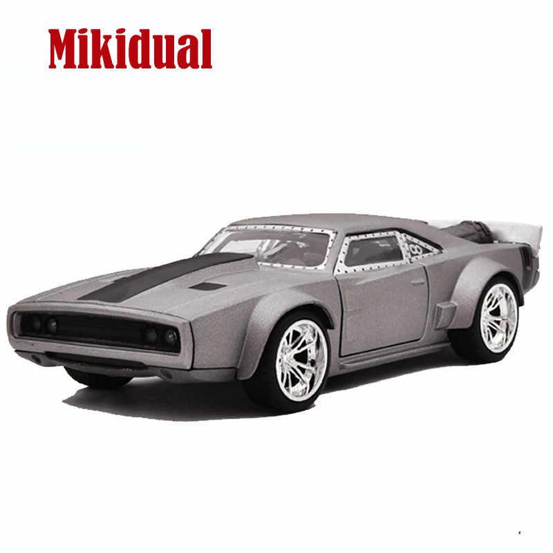 1:32, aleación, película fundida, coches de estilo muscular, modelos de vehículos para niños, juguetes para niños, pala Dodge, cargador de hielo