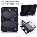 For Samsung GALAXY Tab A 8.0 T350 T351 T355 cover Tablet Heavy Duty Rugged Impact Hybrid Case Kickstand Protective Cover+pen+OTG