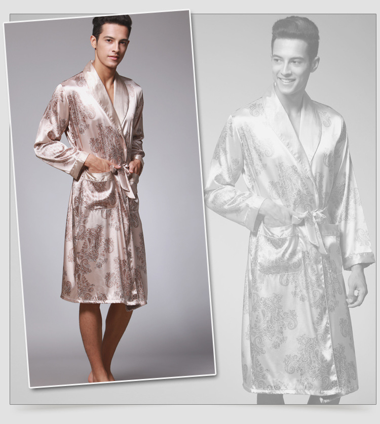573d37923f0 TONY   CANDICE Mens Long Satin Charmeuse Robe feature  1.100% High quality  satin polyester 2.Various color selection 3.Two side pockets 4.One matching  belt