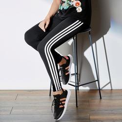 Женские леггинсы повседневные хлопковые полосатые спортивные штаны с высокой талией женские лекинсы штаны большие стрейч леггинсы