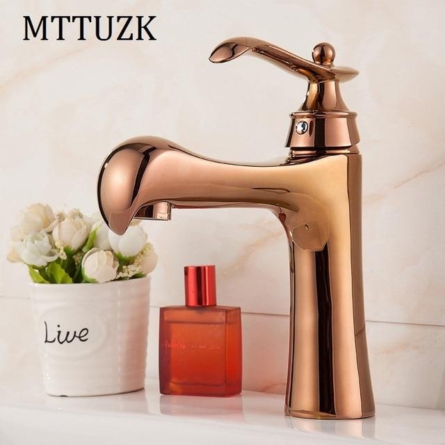 MTTUZK European Brass Gold Plated Bathroom Faucet Parrot Faucet - Gold plated bathroom faucets