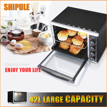 SHIPULE 42L High Quality Electric Oven large Oven Pizza Oven Smokehouse Convection Home Appliances