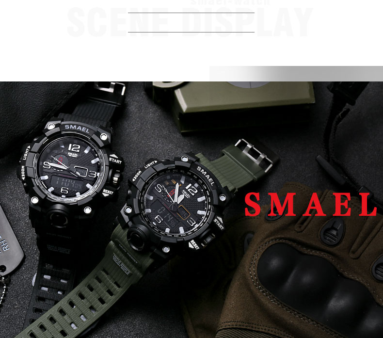 Military Waterproof Dual Display Style Sport Man