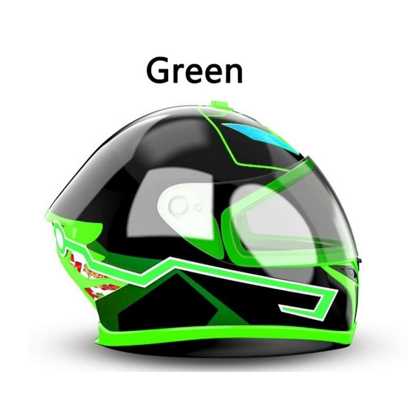 Motorcycle Helmet LED Light Strip Motor Bike Night Riding Safe Flash Lights Kits