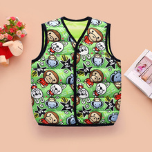 2016 New Monkey Rabbit Mickey Mouse Animal Pattern Duck Down Boys Baby Girl Clothes Fur Vest Dave and Bella Outerwear Children