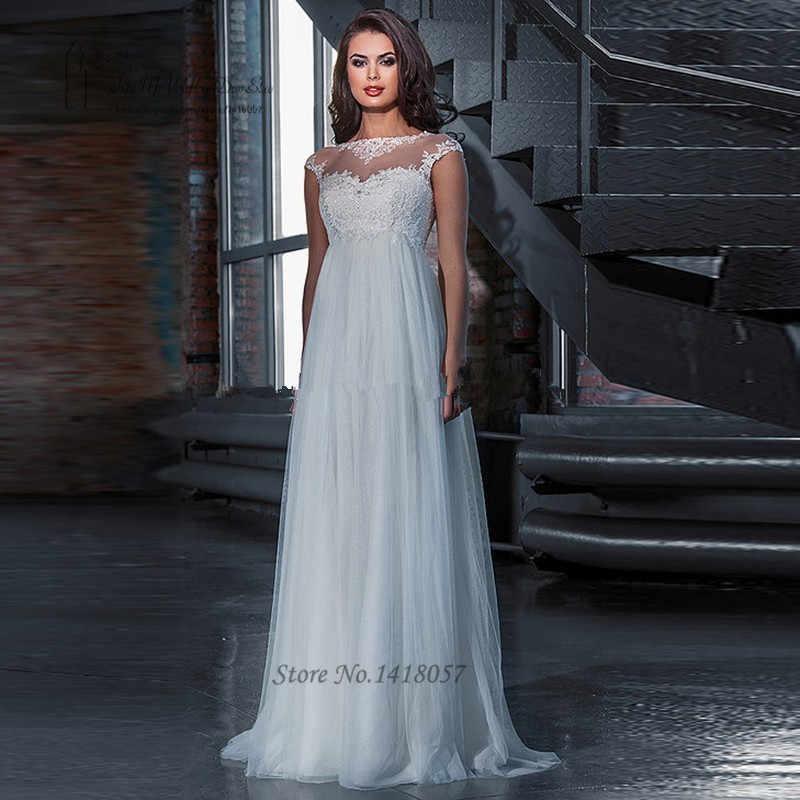 Cheap Maternity Wedding Dress Plus Size for Pregnant Women Bride Dresses  Lace Vestido de Noiva Empire Wedding Gowns Corset Back