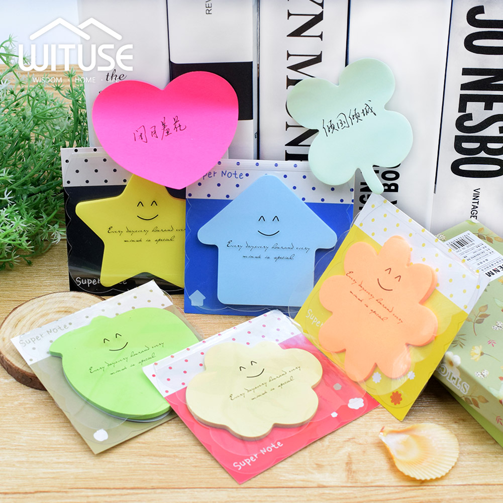 WITUSE Cute Kawaii Candy Color Memo Pad Post It Note Sticky Paper Stationery Planner Stickers Notepads Office School Supplies