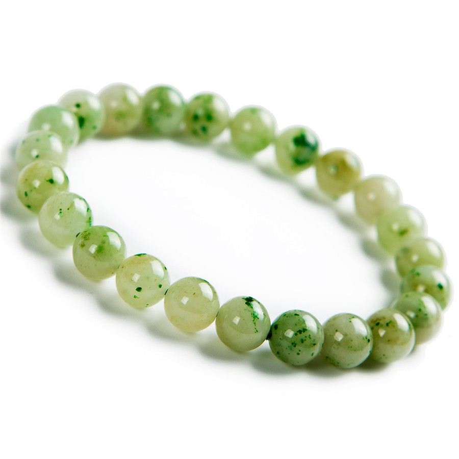 8mm Genuine Green Natural Dushan Jade Bracelets For Women Female Stretch Crystal Round Bead Natural Stone Bracelet Jewelry8mm Genuine Green Natural Dushan Jade Bracelets For Women Female Stretch Crystal Round Bead Natural Stone Bracelet Jewelry