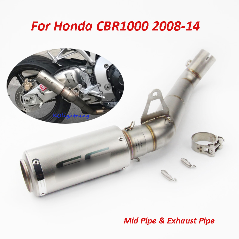 Whole Set Motorcycle Exhaust System Pipe Exhaust Pipe Connecting Mid Middle Pipe for Honda CBR1000RR 2008