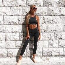 2019 Sportswear Frau Gym Kleidung Sport Yoga Set Sport Bh und Legging Hosen Fitness anzug Sexy Workout Kleidung für frauen