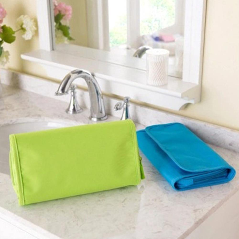 Foldable Travel Wash Bag Cosmetic Organizer Toiletry Bag With Hanger Women Fashion Make Up Bag