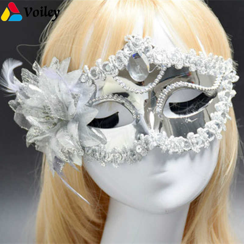 Carnival Halloween Party Ideas.Detail Feedback Questions About Lace Venetian Mask