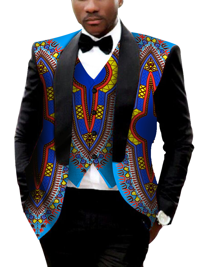 Brand Clothing African Clothes Mens Printed Blazer Men Jacket + Vest Fashion Slim Suits Dashiki Men Large Size 6XL Blazer WYN176