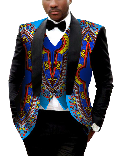 Brand Clothing African Clothes Mens Printed Blazer Men ...