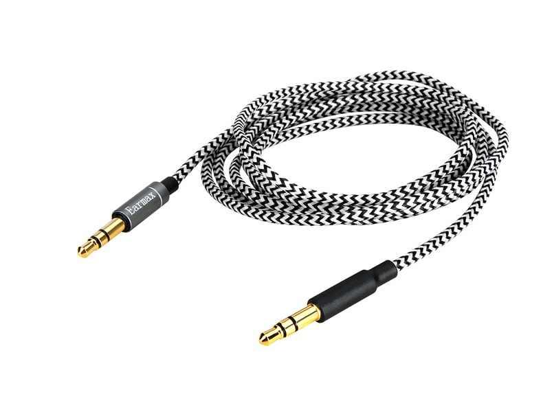 Cable de Audio de Repuesto Compatible con Auriculares inal/ámbricos Bowers /& Wilkins PX con cancelaci/ón de Ruido Activa Cable Chapado en Plata de 2 Metros