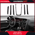 Carbon fiber material glossy black interior car accessories for audi a4 2013-2015