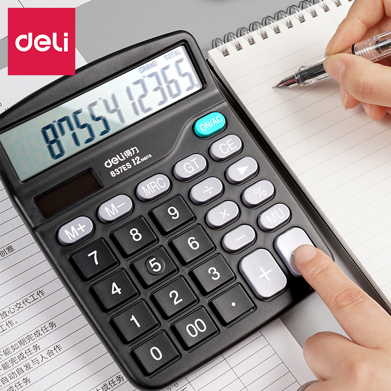 Financial Office Scientific Calculator AA Battery (Not Included) Solar Dual Energy Large Display Calculators For Tax Meeting