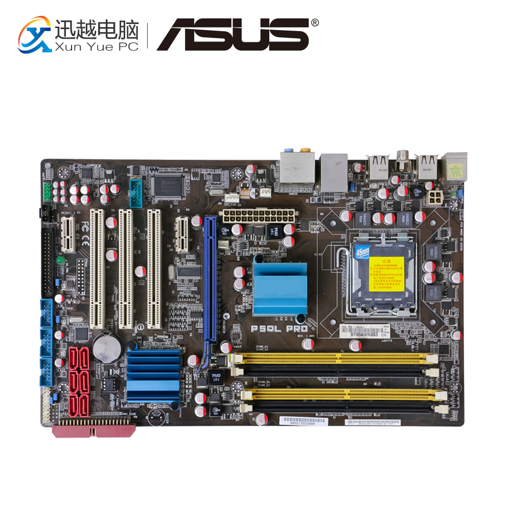 Asus P5QL PRO Desktop Motherboard P43 Socket LGA 775 DDR2 16G ATX On Sale цена