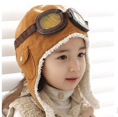HOT Sale Winter Baby Toddler Boy Girl Kids Pilot Aviator Warm Cap Hat Beanie womail delicate unisex slouchy oversize winter warm braided beanie cap warm winter hat w7