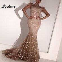 Abendkleider Mermaid Evening Dresses Long Sleeves Formal Arabic Women Gown  2018 Vestido De Festa Longo Wedding 92de632f5019