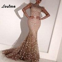 Abendkleider Mermaid Evening Dresses Long Sleeves Formal Arabic Women Gown 2018 Vestido De Festa Longo Wedding Party Dress
